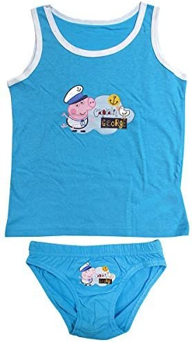 Boys Underwear Peppa George Pig Vest /& Briefs Pants Underpants Set Sizes from 2 to 8 Years