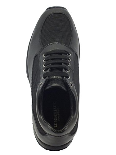 Lumberjack Herren Sneaker Schwarz Schwarz 40 EU, Schwarz - Schwarz - Größe: 41 EU