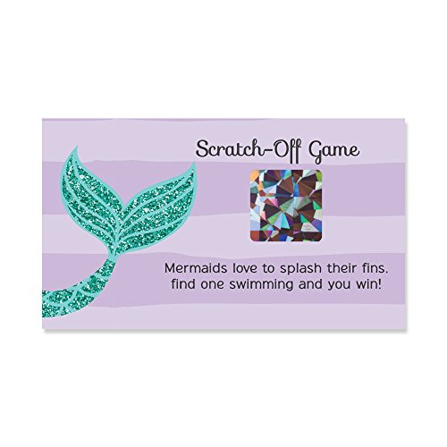 Big Dot of Happiness Let's Be Mermaids - Baby Shower or Birthday Party Game Scratch Off Cards - 22 Count for $<!--$9.99-->