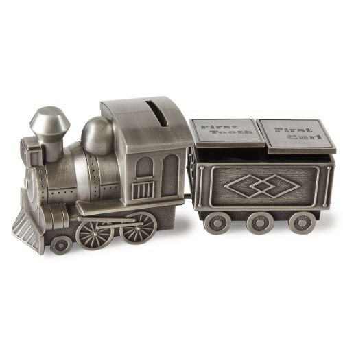 Elegance Pewter Plated Train Bank, Tooth & Curl Boxes Set by Elegance (Image #1)