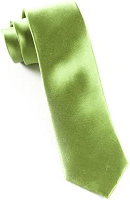 The Tie Bar 100% Woven Silk Clover Solid Satin Tie