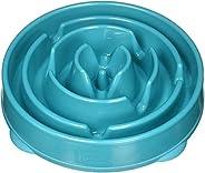 Outward Hound Fun Feeder Slo-Bowl Healthy Slow Feeding Dog Bowl, Large, Teal