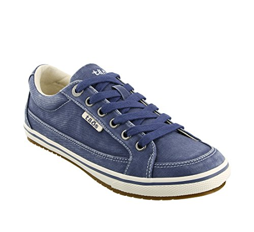 Taos Footwear Women's Moc Star Indigo Distressed Sneaker 9.5 B (M) US