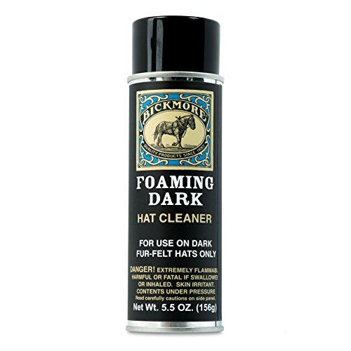 Bickmore Foaming Dark Hat Cleaner | Remove Dirt, Dust, Fingerprints & Sweat Stains - Great for Fur - Felt Cowboy Hats, Baseball Hats, Fedoras, Sun Hats & More ()