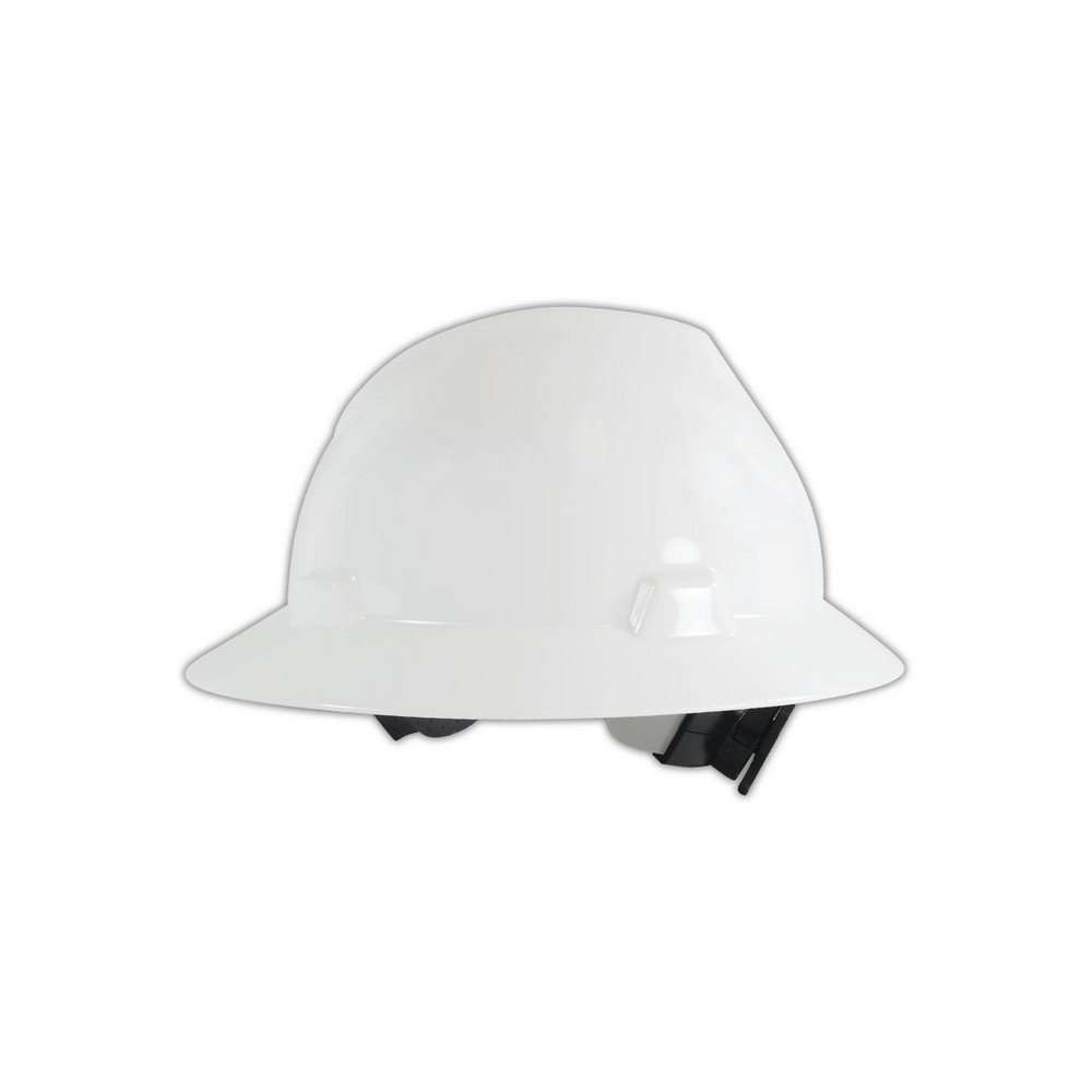 MSA 475369 V-Gard Slotted Protective Hard Hats with Fas-Trac Suspension, Standard, White, Standard
