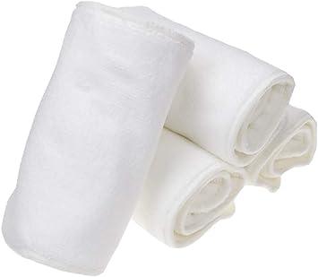 Jolie Diaper Pack de 4 Insertos de Pañal 4 Capas Absorbente Antibacterial Desodorante Reutilizables para Adultos Pañales de Tela: Amazon.es: Deportes y aire libre