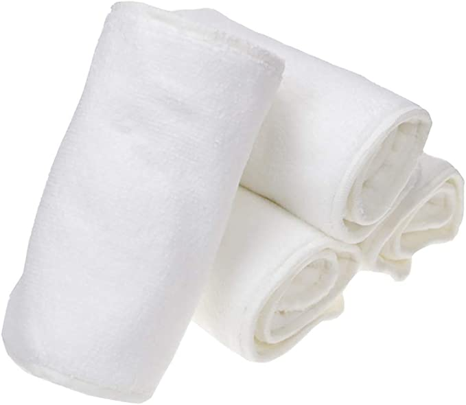 LnLyin Nappy Inserts Booster Bamboo Fiber Nappies Washable Reusable Diaper Nappies Insert 5 Layers