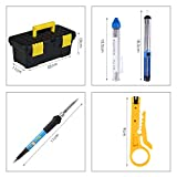 Soldering Iron Kit- Amzdeal 60W 15 in 1 Soldering Tools Adjustable Temperature Welding Tool with 5 Changeable Soldering Tips, Soldering Iron Stand, Solder Sucker for DIY Projectsand Repairing