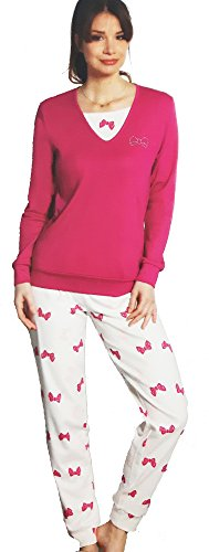 pigiama donna caldo cotone NAZARENO GABRIELLI art. DO118 (L, fragola)