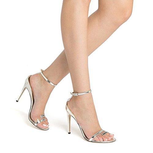 Heel Vestido XUE Fiesta Zapatos Pointed Caminar Noche Boda Tamaño Trabajo Stiletto Comfort Color y de Sandalias para 36 Do Negocios Mujer de Formal Zapatos PVC Heel Boda Segundo vnPxTrvq