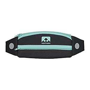 NATHAN Running Belt Waist Pack 5K with Reflective Detail, Zippers and Adjustable Pouch Strap Runners Fanny Pack Bounce Free Pouch, Ultra Lightweight Neoprene Fits all Phones (iPhone, Android, Windows) For Men and Women Running, Biking, Hiking, CrossFit, Workout