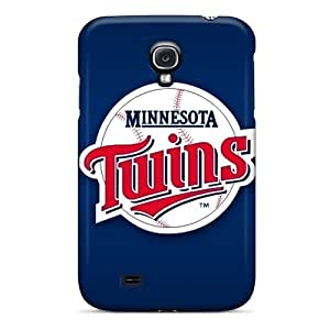 Perfect Hard Phone Cases For Samsung Galaxy S4 With Custom Colorful Minnesota Twins Pattern SherriFakhry