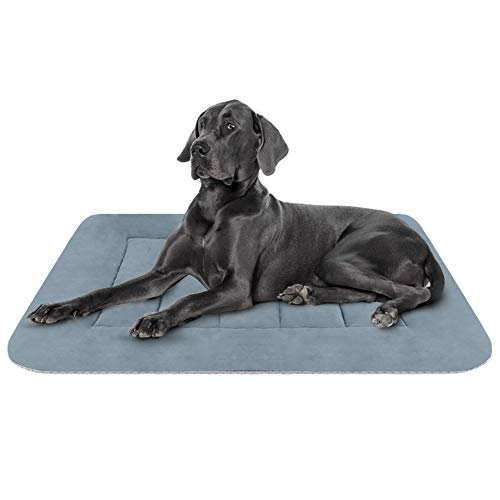 Hero Dog Large Dog Bed Crate Pad Mat 42 Inch Washable Matteress Anti Slip Cushion for Pets Sleeping (Dog Beds For Extra Large Crate)