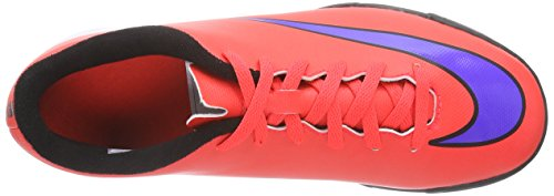 Nike Jr. Mercurial Vortex II TF Unisex-Kinder Fußballschuhe Rot (Bright Crimson/Prsn Violet-Blk)