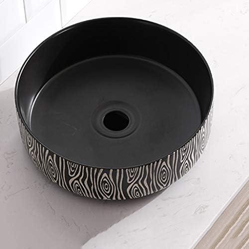 BoPin バスルームの洗面台、(タップ無し)対流域ホームバニティ単一流域上記ラウンドマットセラミック、利用可能な2つのスタイル ベッセルシンクシンク (Color : B)
