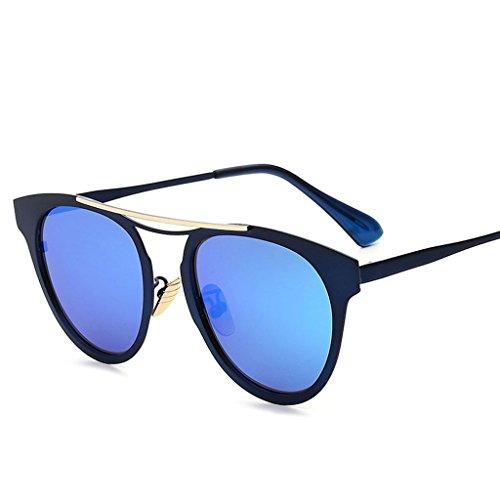 de Coreanas Sol los Redonda Gafas Conducción Cara de Tendencia Señoras Hombres Sol Gafas de Sol Gafas Las D la de D Color de de Gafas de XxU5Txqz