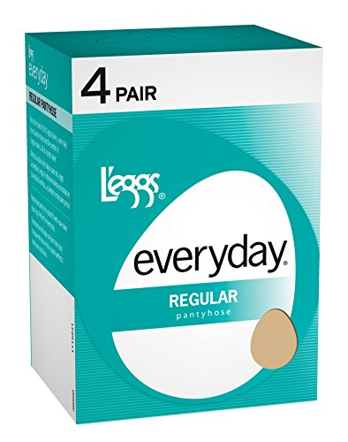 L'eggs Womens Everyday Regular ST 4 Pair (39500) -SUNTAN -Q -4PK