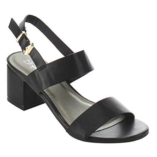 Image of Refresh ID91 Women's Double Strap Sling Back Block Heel Dress Sandal