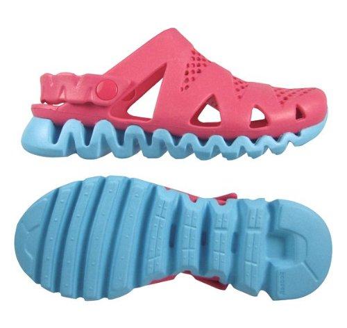 (Reebok Kids Zigstorm J97421 Pink Zing/Watery Blue Size 7.0)