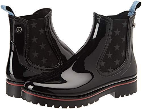 De Trussardi Rubber nero Boot Bottes Jeans Pluie K299 Noir Bottines Femme 5C44qXw