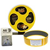 """Exotic Nutrition Silent Runner 9"""" + Sandy Track + Cage Attachment - Pet Exercise Wheel Package Set"""