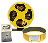 Exotic Nutrition Silent Runner 9'' + Sandy Track + Cage Attachment - Pet Exercise Wheel Package Set