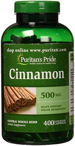 Puritans Pride Cinnamon 500 Mg, 400 Count