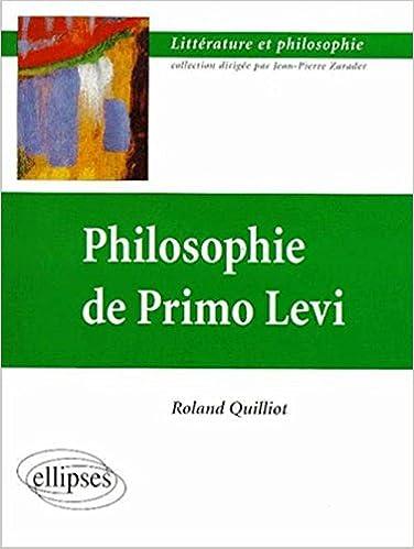 Téléchargement Philosophie de Primo Levi pdf, epub ebook