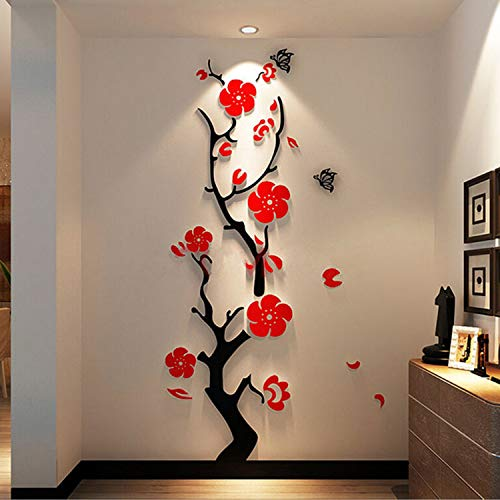 YINASI 3D Acrylic Wall Stickers, Modern Stickers Decoration Living Room Removable Mural Wallpaper Art Decals Home Decor ()