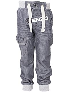 526d9afcdf0f Enzo Boys EZ268 Cuffed Jeans Black 24  Amazon.co.uk  Clothing