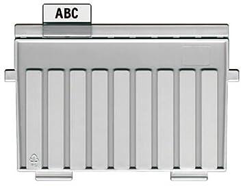 HAN 9024-11 - Placa de soporte para archivador, fabricada en poliestireno, A4 horizontal, color gris: Amazon.es: Oficina y papelería