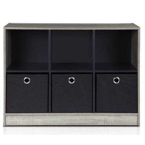 "24"" Cube Unit Bookcase by Symple Stuff (Oak Gray / Black) from Symple Stuff"
