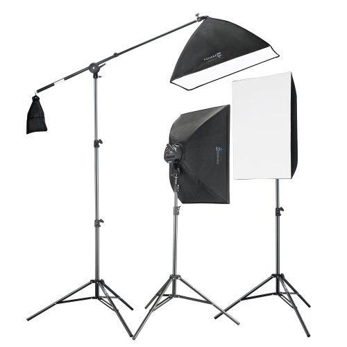 Square Perfect 2815 Professional Quality 2275W Digital Video Softbox Lighting Kit Boom Stand [並行輸入品]   B078GB1PSG