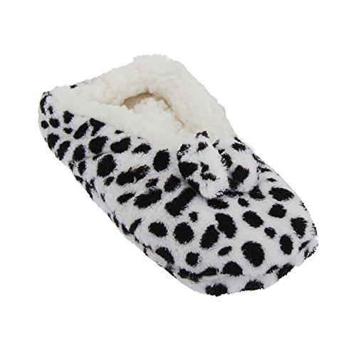 Damen Hausschuhe im Tier-Design Schneeleopard
