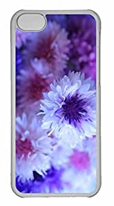 iPhone 5C Case, Personalized Custom Cornflower Bouquet for iPhone 5C PC Clear Case