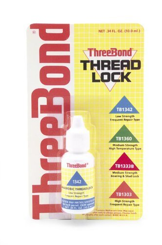 Three Bond Low Strength Frequent Repair Thread Lock - 10 ml 1342AT002 by Three Bond
