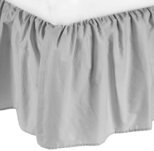 American Baby Company 100% Cotton Percale Portable Mini Crib Skirt, Gray by American Baby Company