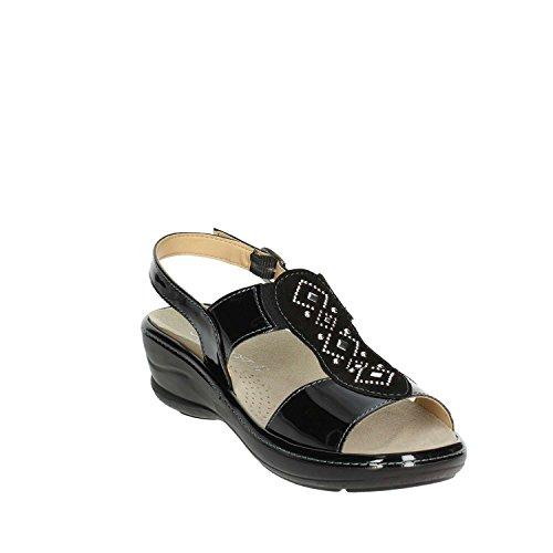 V IO420P Sandalo 40 Nero Donna 003 Cinzia Soft SEZwF