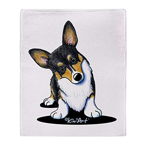 "CafePress KiniArt Tricolor Corgi Soft Fleece Throw Blanket, 50""x60"" Stadium Blanket"