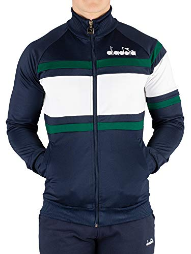 Diadora Men's 80'S Track Jacket, Blue, M