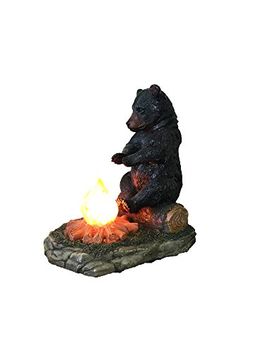 Large Black Bear By The Campfire Table Night Light - Rustic, Cabin, Lodge, Country Decor by DeLeon Collections (Image #6)