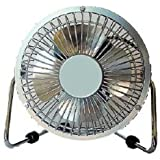 4 Inch High Velocity Desk Fan Gray
