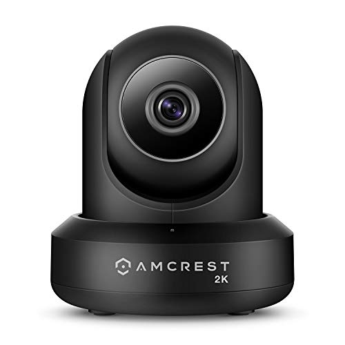 (Amcrest UltraHD 2K (3MP/2304TVL) WiFi Video Security IP Camera with Pan/Tilt, Dual Band 5ghz/2.4ghz, Two-Way Audio, 3-Megapixel @ 20FPS, Wide 90° Viewing Angle and Night Vision IP3M-941B (Black))