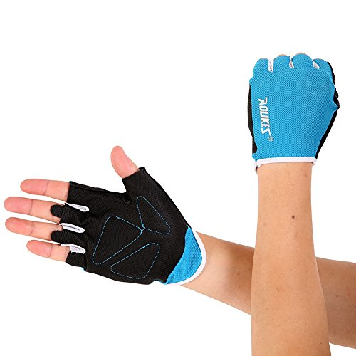 Riiya Non-slip Bike Gloves Breathable Half Finger Gloves for Cycling Biking Workout Fitness Outdoor Sports