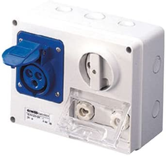 Gewiss GW66037 caja de tomacorriente Azul - Caja registradora ...
