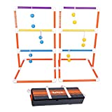 Harvil PVC Ladder Toss Game Set. Includes Soft Bolos, 2 Targets, and Carrying Case