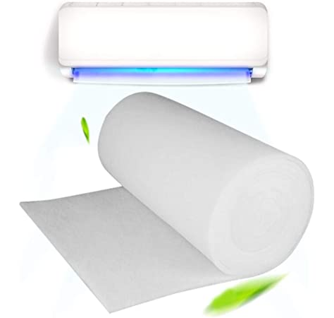 heresell Purificador de Agua de carbón Activado prefiltro Red de Aire Acondicionado, Filtro de Polvo de Tela prefiltro de Aire, Papel de purificación de Aire, 100 cm x 100 cm x 3