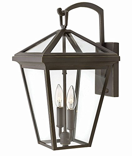 Hinkley 2564OZ Transitional Two Light Outdoor Wall Mount from Alford Place collection in Bronze/Darkfinish, by Hinkley