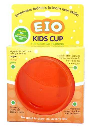 EIO Kids Cup Cap & Sleeve (Glass Jar Is Not Included) (Orange)