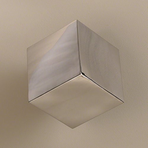 Modern Suspended Cube Wall Sculpture | Stainless Steel Art Silver Block (Stainless Steel Wall Sculpture)